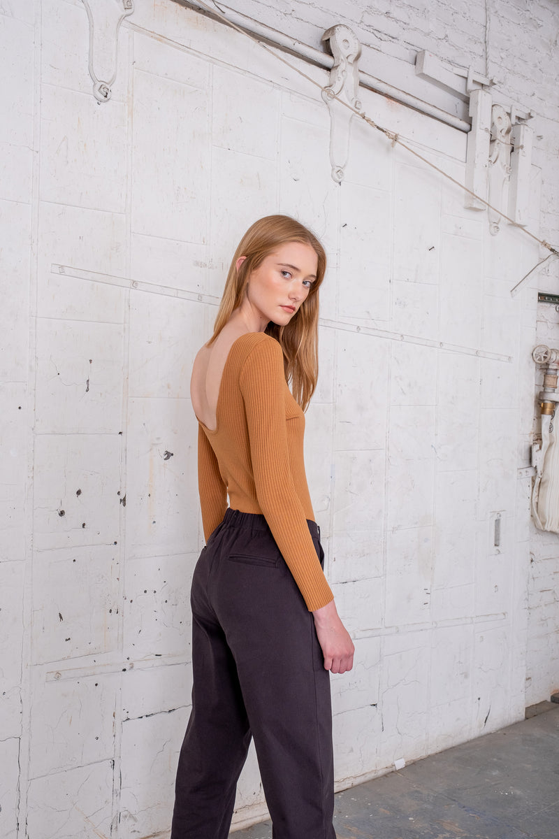 Zuma - Brown Long Sleeve Bodysuit