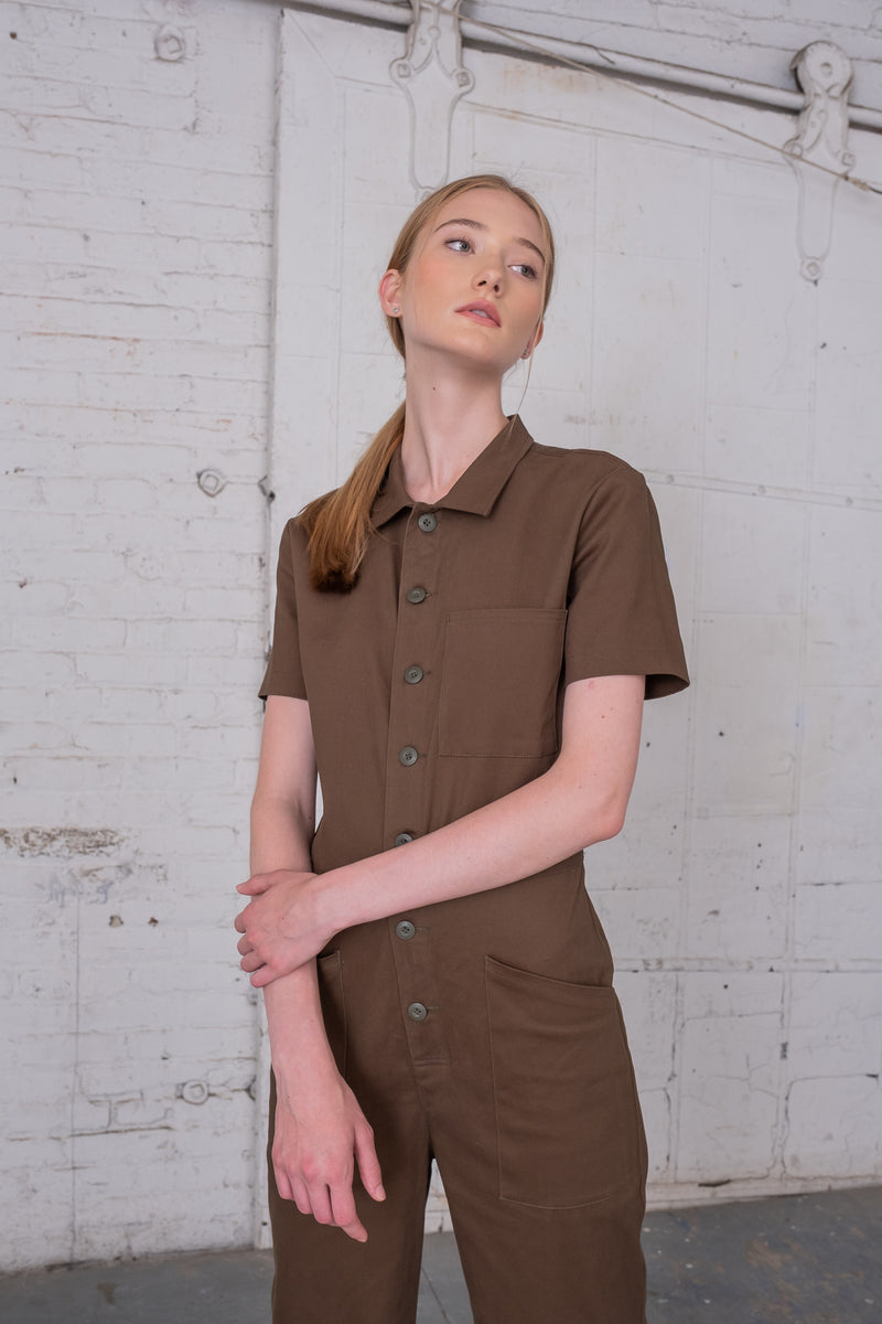 Ghent - Army Green Utility Jumpsuit