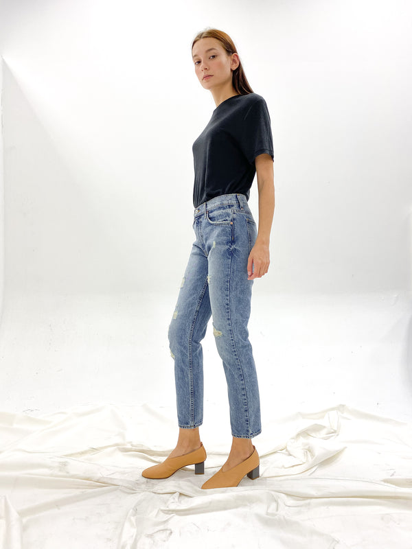Laguna Boyfriend - Indigo Reed Destruction Wash