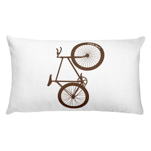 Big Wheelie Bicycle Rectangular Pillow - Urban Cycling Apparel