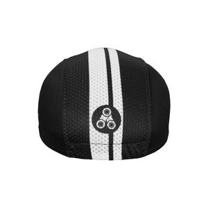 Black & White Classic Urban Cycling Cap - ultralight fabric, classic design - Urban Cycling Apparel
