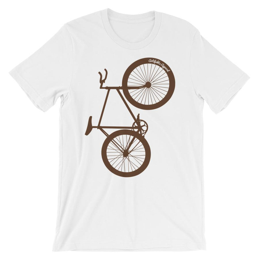 Brown Big Wheelie Unisex short sleeve bicycle t-shirt - Urban Cycling Apparel