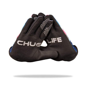 """CHUG LIFE"" MTB Gloves - 4-way stretch, phone swipe, snarky graphics - Urban Cycling Apparel"