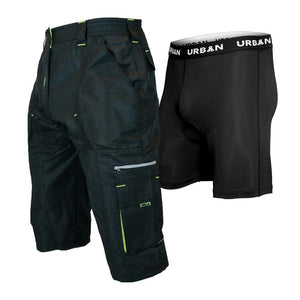 DK Gravel Shorts I 1/2 Pants Long MTB Baggy Shorts with 7 Pockets, Side Vents - Urban Cycling Apparel