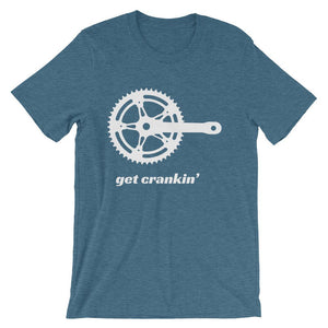 Get Crankin' unisex short sleeve bicycle t-shirt - Urban Cycling Apparel