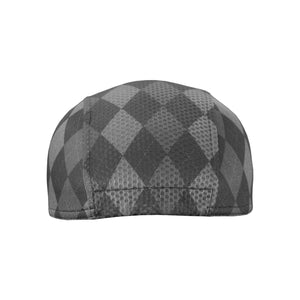 Grey Argyle Classic Urban Cycling Cap - ultralight fabric, classic design - Urban Cycling Apparel