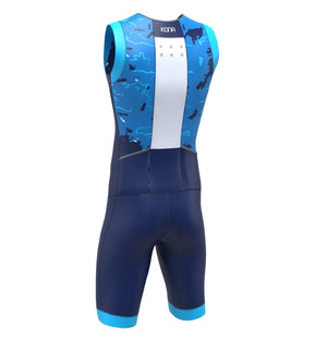 KONA ASSAULT Triathlon Race Suit - Aqua Camo - Urban Cycling Apparel