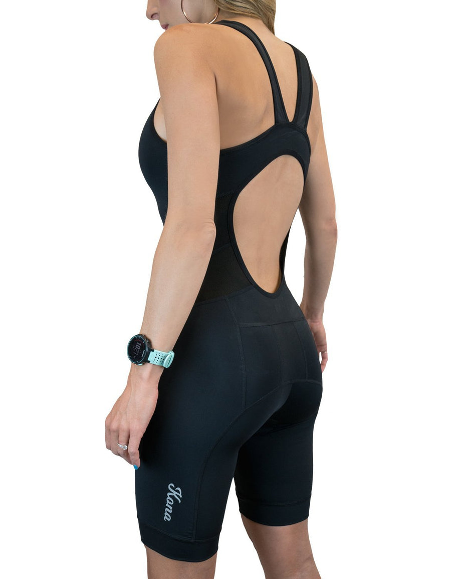Kona Women's Triathlon Race Suit - Speedsuit Skinsuit Trisuit Sleeveless - One-piece vest and short combo with body-mapped ventilation - Urban Cycling Apparel