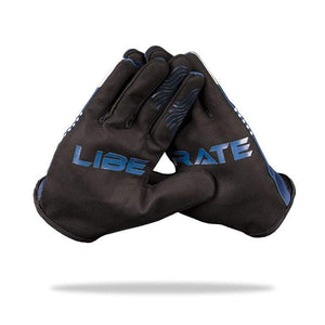 """LIBERATE"" MTB Gloves - 4-way stretch, phone swipe, snarky graphics - Urban Cycling Apparel"
