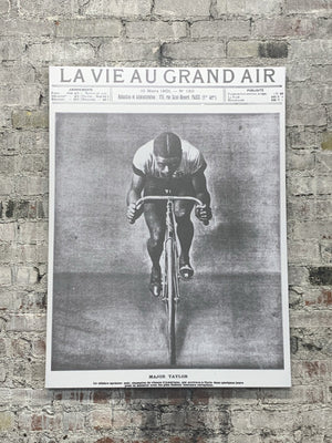 Major Taylor, La Vie Au Grand Air Cover - Canvas Wall Art FREE SHIPPING - Urban Cycling Apparel