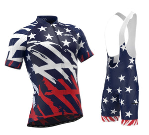 Men's All American Short Sleeve Jersey, Bib Shorts - Urban Cycling Apparel
