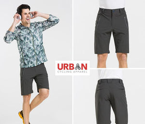 Men's Commuter Urban Casual Cycling Bike Shorts with Padded Underliner - Two Shorts in One - Urban Cycling Apparel
