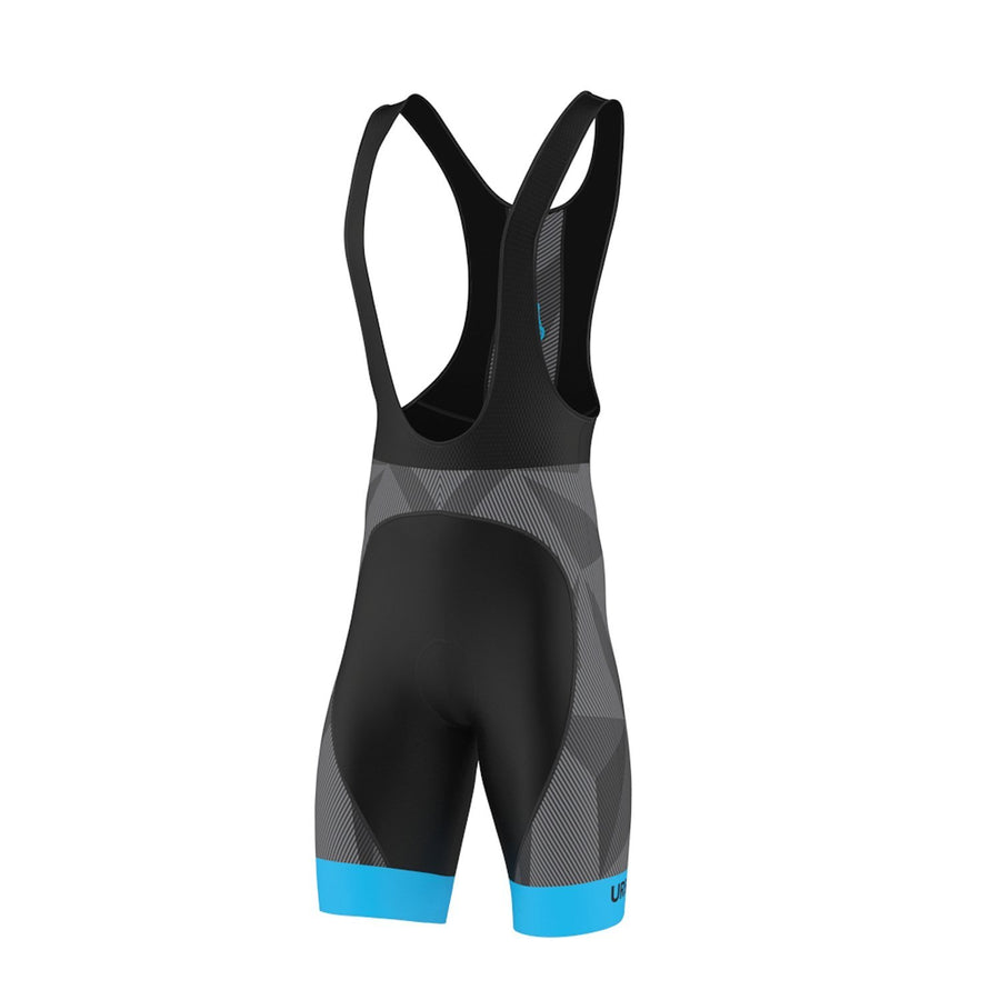 Men's ELITE GRAPHITE Bib Cycling Shorts - Urban Cycling Apparel