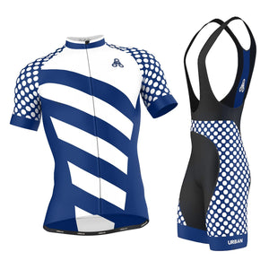 Men's ELITE ROYAL Cycling Jersey & Bib Shorts - Urban Cycling Apparel