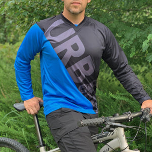 Men's Long Sleeve MTB Mountain Bike Cycling Jersey - Urban Cycling Apparel