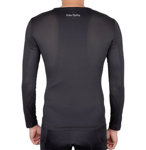 Men's Mesh Base Layer - Black Long Sleeve Cycling Undershirt - Urban Cycling Apparel