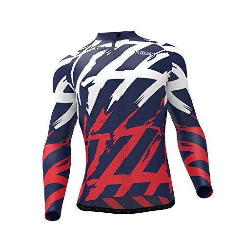 Men's Patriot Thermal Cycling Long Sleeve Jersey, Cargo Bib Tights, or Kit Bundle - Urban Cycling Apparel
