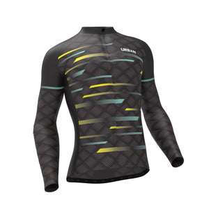 Men's Pro Urban Carbide Thermal Cycling Long Sleeve Jersey, Cargo Bib Tights, or Kit Bundle - Urban Cycling Apparel