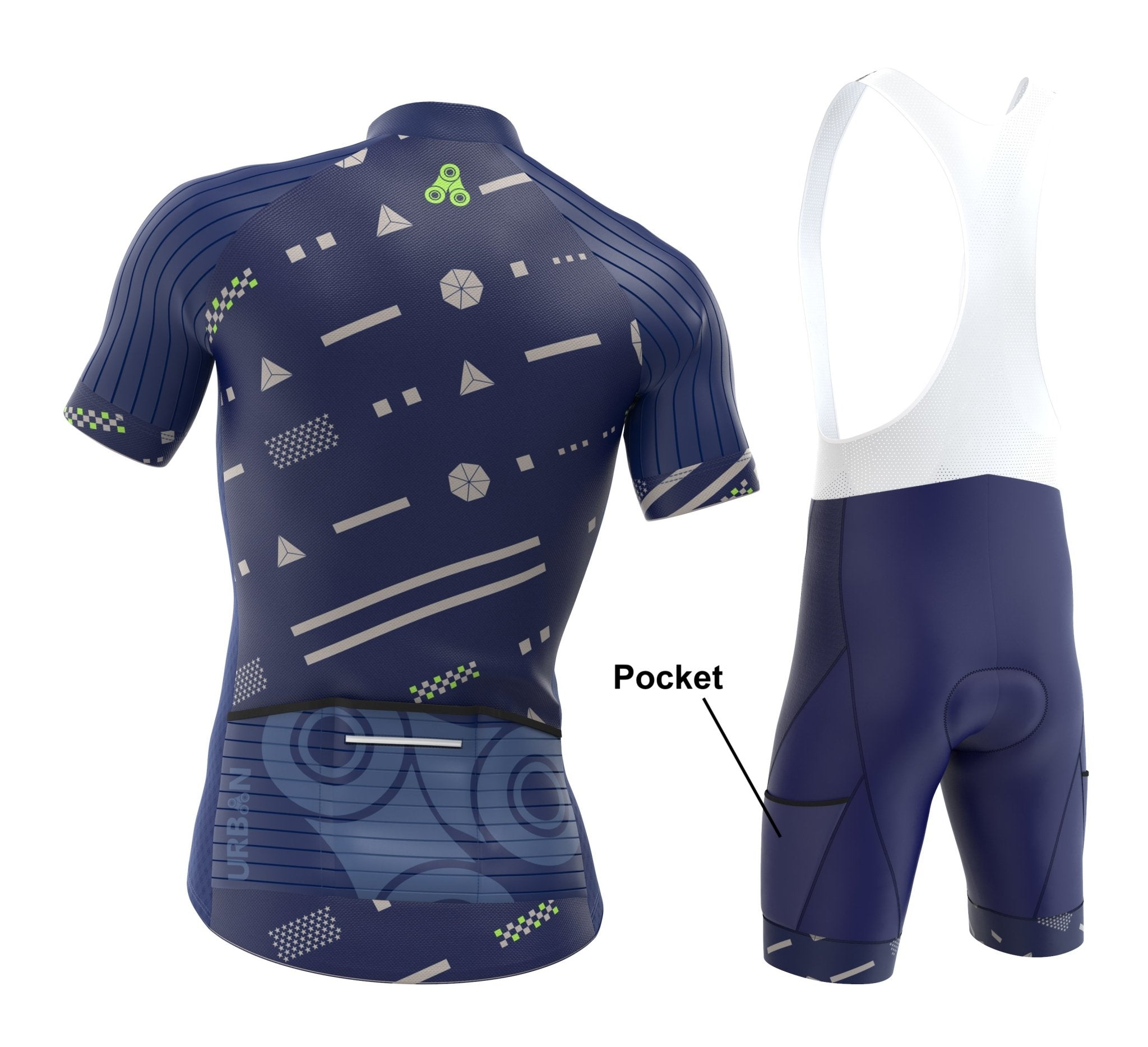 Men/'s Pro Urban Cycling Short Sleeve Jersey Cargo Bib Shorts or Kit Bundle