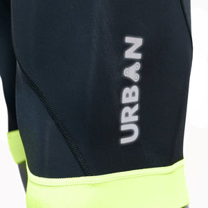 Men's Safety Yellow Short Sleeve Jerseys, Bib Shorts, or Cycling Kit Set - Urban Cycling Apparel