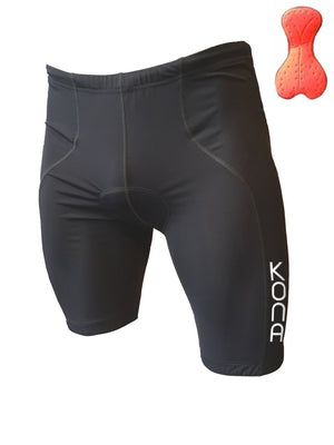 Men's Triathlon Shorts - Black, from Kona Tri Apparel - Urban Cycling Apparel