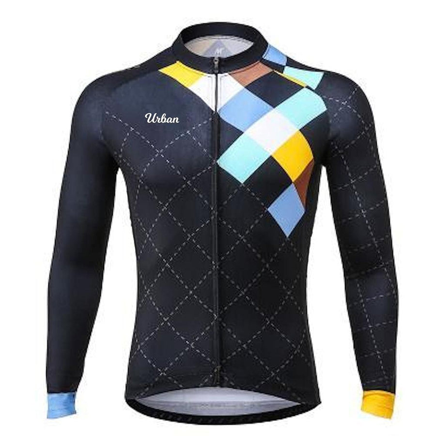 Men's Urban Cycling Windsor Long Sleeve Jersey, Tights, or Kit Set - Urban Cycling Apparel