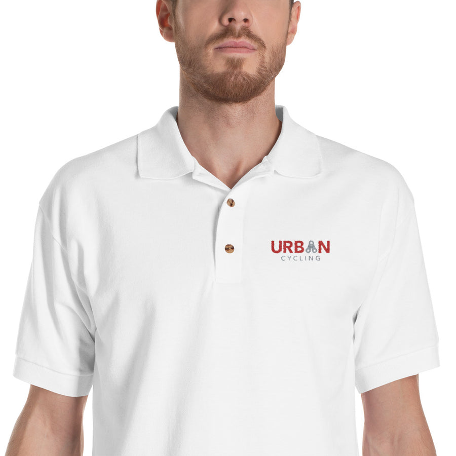 Urban Cycling Embroidered Polo Shirt - Urban Cycling Apparel