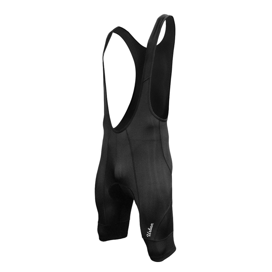 Pro Men's Black Cycling Bib Shorts, with Two 3D Gel Pad Options - Urban Cycling Apparel