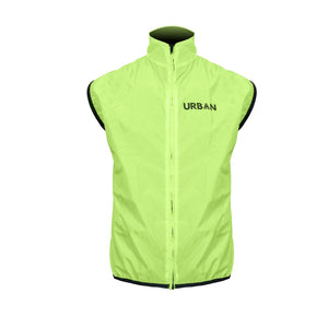 SAFETY YELLOW CYCLING VEST - Very high visibility sleeveless jacket vest gilet with reflective panels for road cycling, MTB, or bike commuting - Urban Cycling Apparel