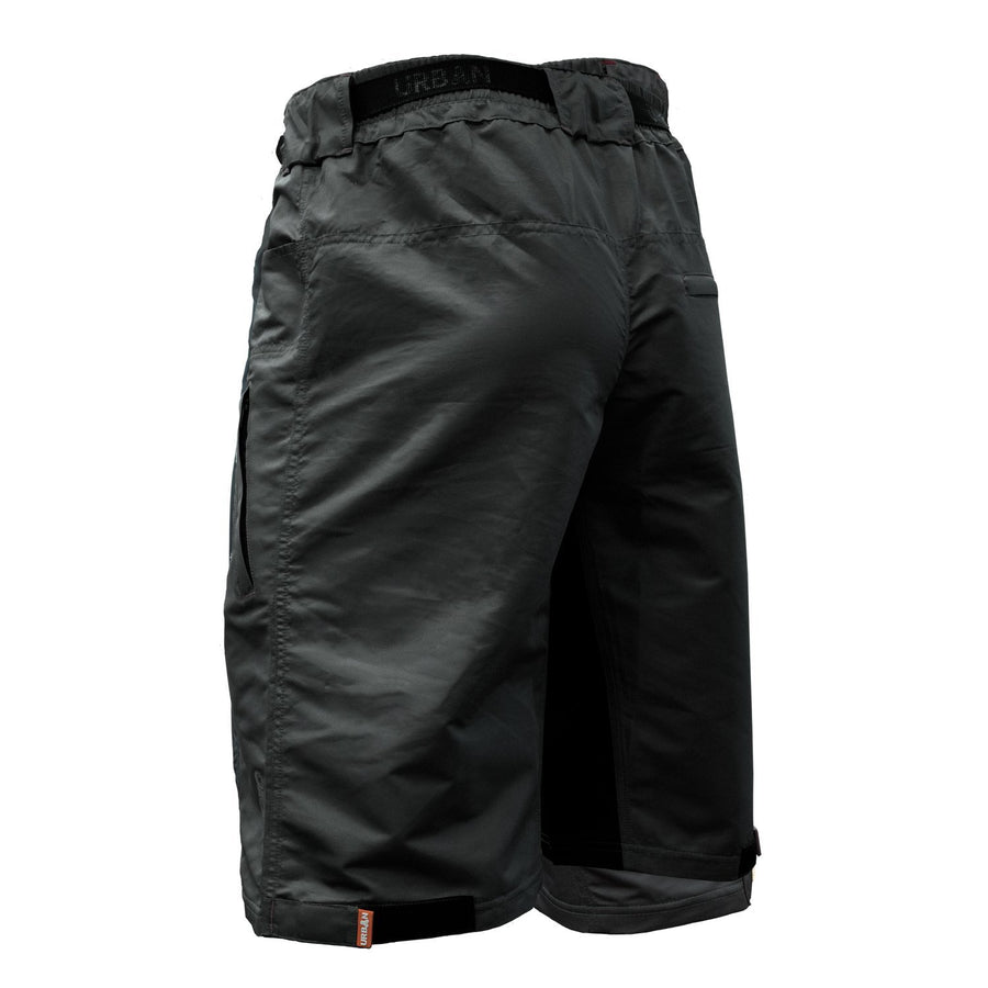 THE ENDURO - Men's Black MTB shorts with Padded Underliner - Urban Cycling Apparel