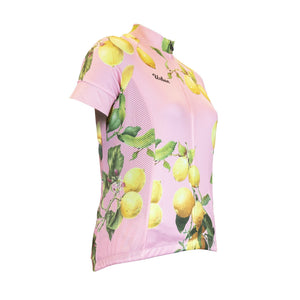 The Lemon - Women's Pink Short Sleeve Cycling Bike Jersey, Shorts, or Kit Set - Urban Cycling Apparel