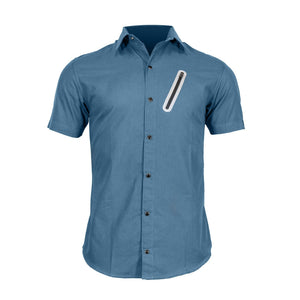 The Pedaler's Pub Shirt - Short Sleeve Casual Urban Commuter Cycling Jersey with Snaps, Zipper Pockets, and Dry Fast Wicking - Urban Cycling Apparel