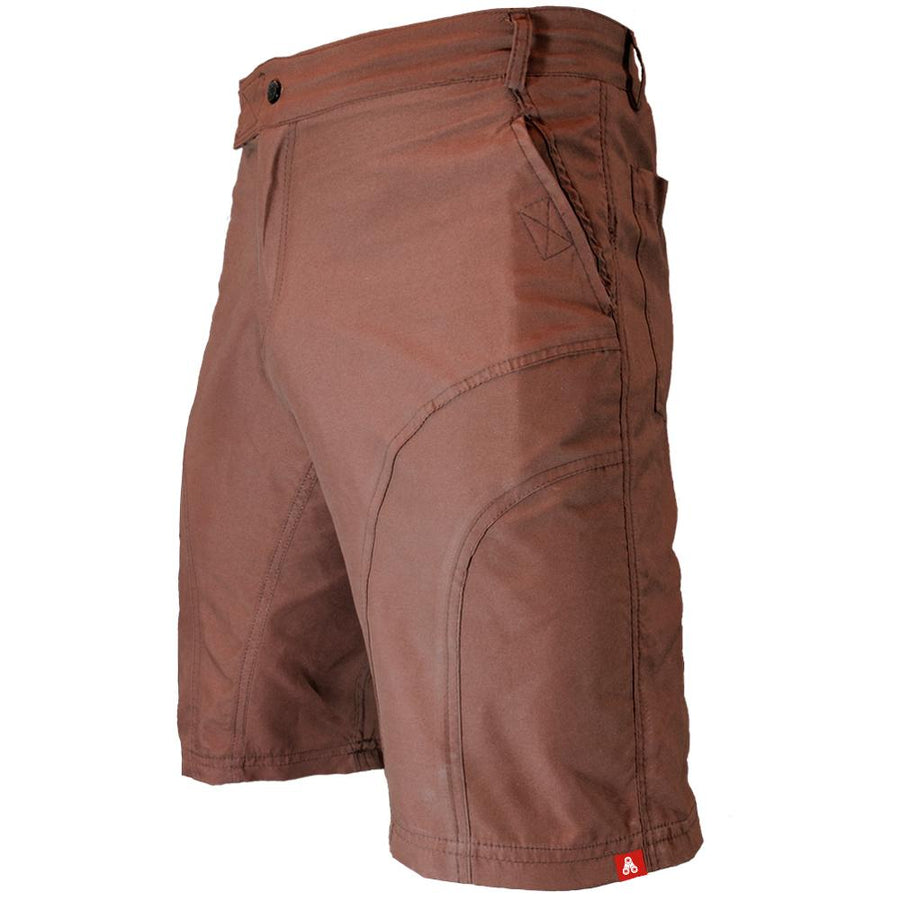 THE PUB CRAWLER - Men's Brown Casual Bike Shorts - Urban Cycling Apparel