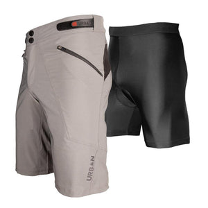 The Shredder - Men's MTB Off Road Cycling Shorts Bundle with Padded Undershorts - Urban Cycling Apparel