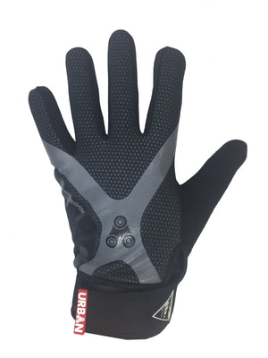 Urban Cycling Full Finger Gloves - Touch Screen Finger Bike Gloves, Windproof, Gel Padded for MTB or Road Cycling - Urban Cycling Apparel