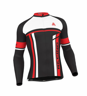 Urban Cycling RED THERMAL WINTER fleece Jersey & Bib Tights - Urban Cycling Apparel