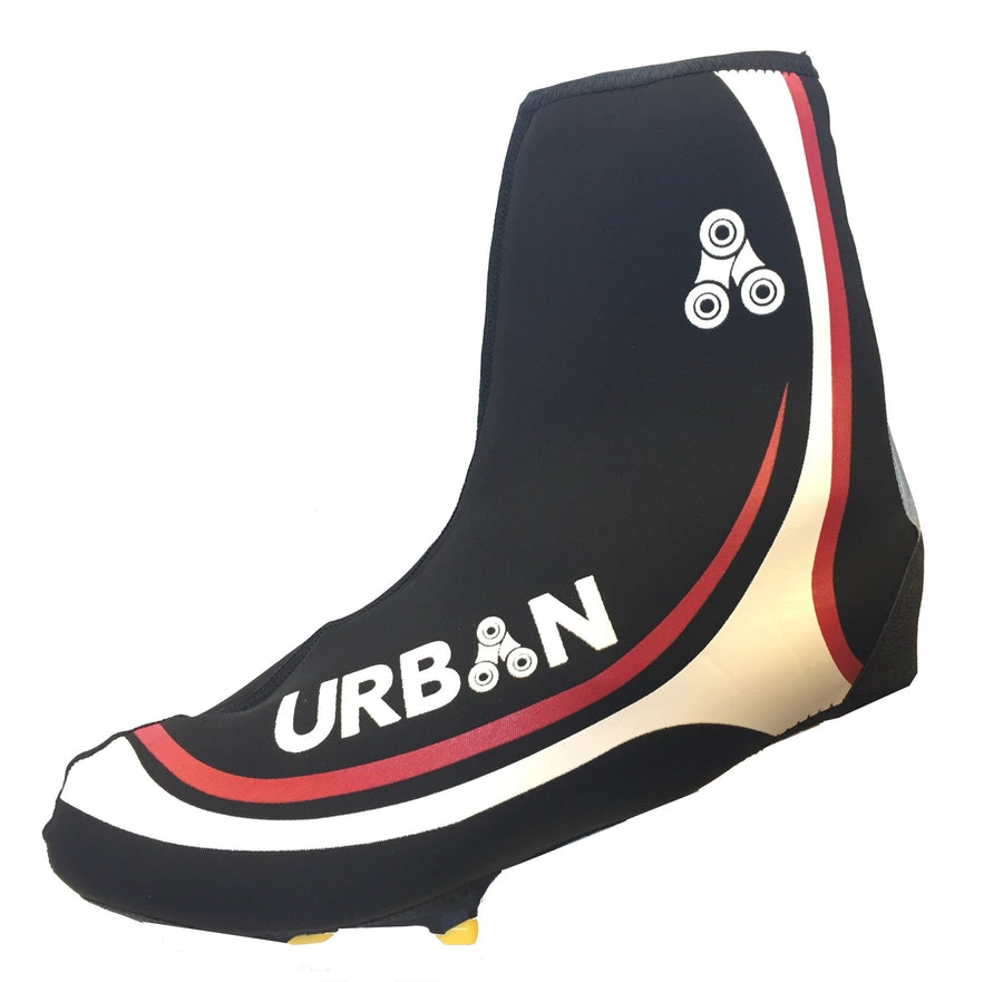 Urban Cycling Shoe Covers with Reflective Zipper - Windproof, Waterproof Neoprene Overshoes for Road and MTB, All Clip Shoe Type - Urban Cycling Apparel