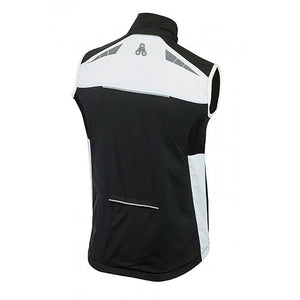 URBAN CYCLING WINDBREAKER VEST / GILET - Black & White - Urban Cycling Apparel