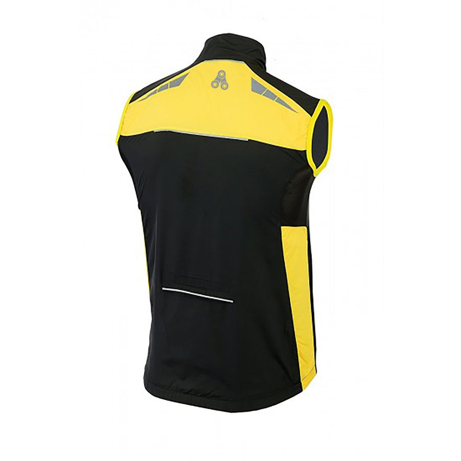URBAN CYCLING WINDBREAKER VEST / GILET - Black & Yellow - Urban Cycling Apparel