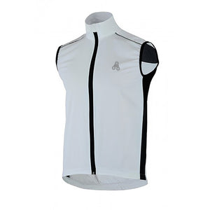 URBAN CYCLING WINDBREAKER VEST / GILET - White & Black - Urban Cycling Apparel
