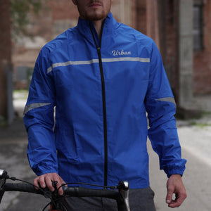 Urban Windproof & Waterproof Commuters Men's Cycling Jacket - Blue - Urban Cycling Apparel