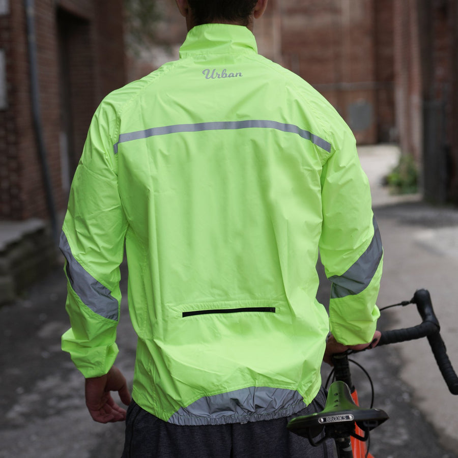 Urban Windproof & Waterproof Commuters Men's Cycling Jacket - Yellow - Urban Cycling Apparel