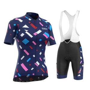 Women's Confetti Jersey & Bib Shorts - Urban Cycling Apparel