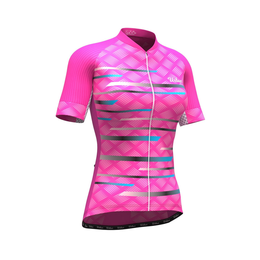 Women's Cycling Jersey - Pro Series Pink Cycling Short Sleeve Jersey - Urban Cycling Apparel