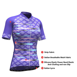 Women's Pro Series Purple Cycling Short Sleeve Jersey - Urban Cycling Apparel