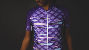 Women's Pro Series Purple Cycling Short Sleeve Jersey, Bib Shorts, or Kit Bundle - Urban Cycling Apparel