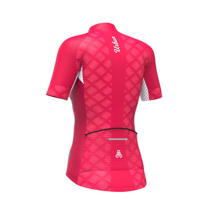 Women's Pro Series Red Cycling Short Sleeve Jersey - Urban Cycling Apparel