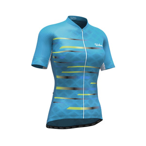 Women's Pro Series Teal Cycling Short Sleeve Jersey - Urban Cycling Apparel