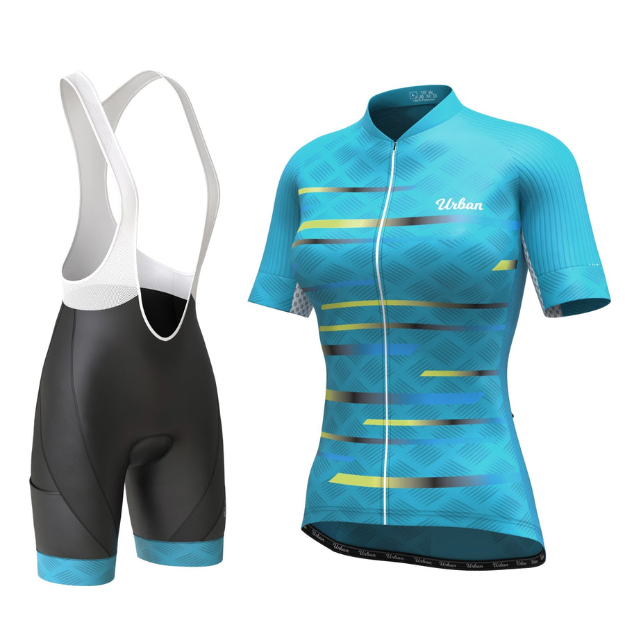 Women's Pro Series Teal Cycling Bib Shorts - Urban Cycling Apparel