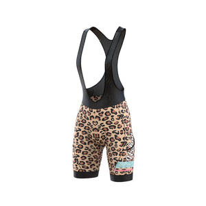 Women's Urban Leopard Print Jersey & Bib Shorts - Urban Cycling Apparel
